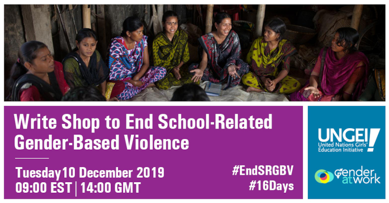 16 Days of Activism to End SRGBV write shop flyer – DDec 2019